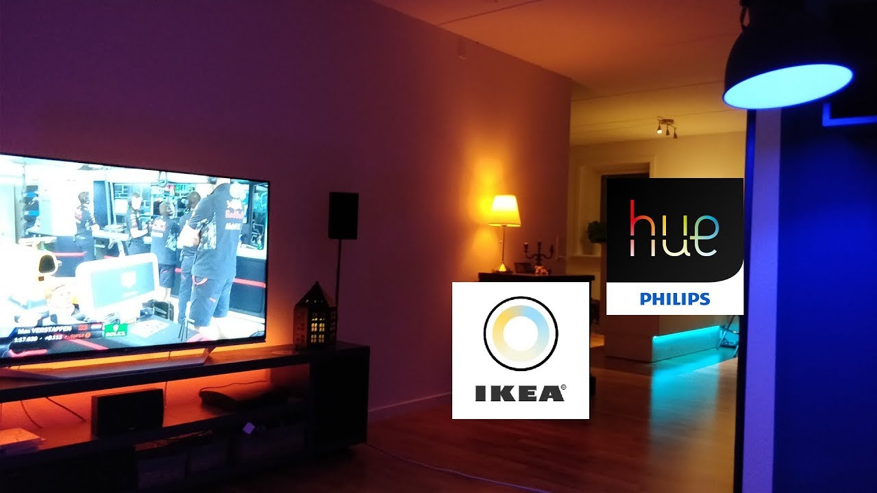 philips hue bridge working with ikea tr dfri bulbs nice youtube. Black Bedroom Furniture Sets. Home Design Ideas