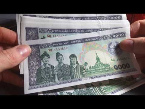 Laos consecutive 1000 kip banknotes