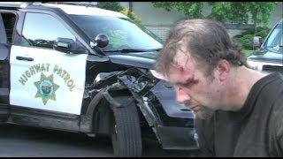 Suspect Assaults Police Officer & Tries To Run - Stanislaus County Auto Theft Task Force Arrest
