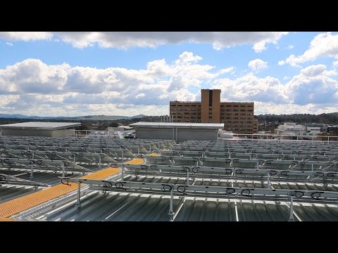 Solar panels installed on roof of Canberra Hospital car park
