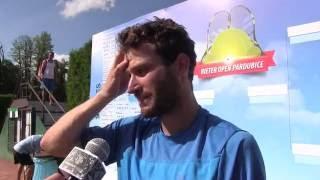 Marek Michalička po prohře ve druhém kole na turnaji Futures v Pardubicích