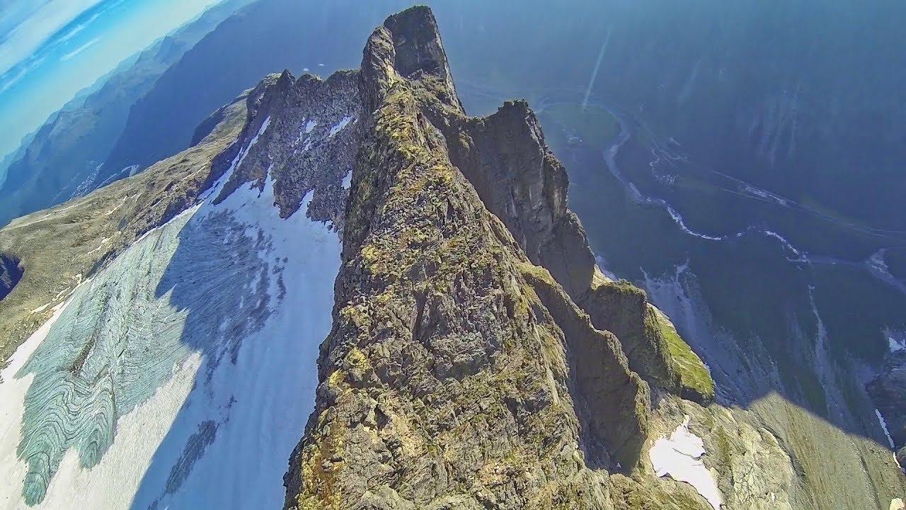 RAW Wingsuit Flight: Norway ridge surfing