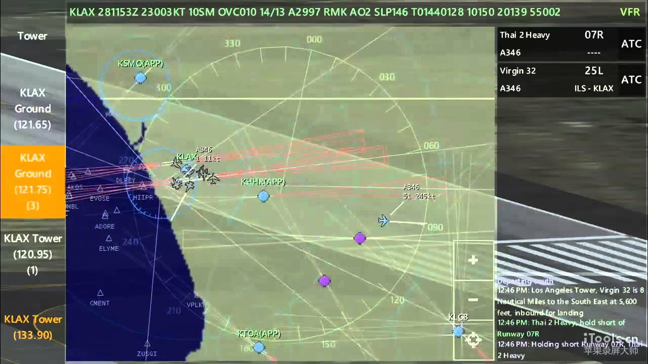 Infinite Flight Live: ATC Gameplay at LAX