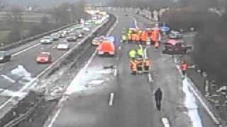 Unfall auf Autobahn 66