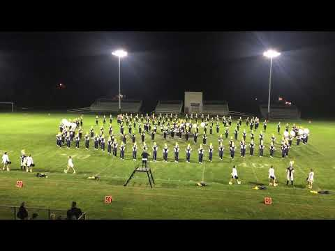 Owosso High School marching band. 2018 marching band festival.