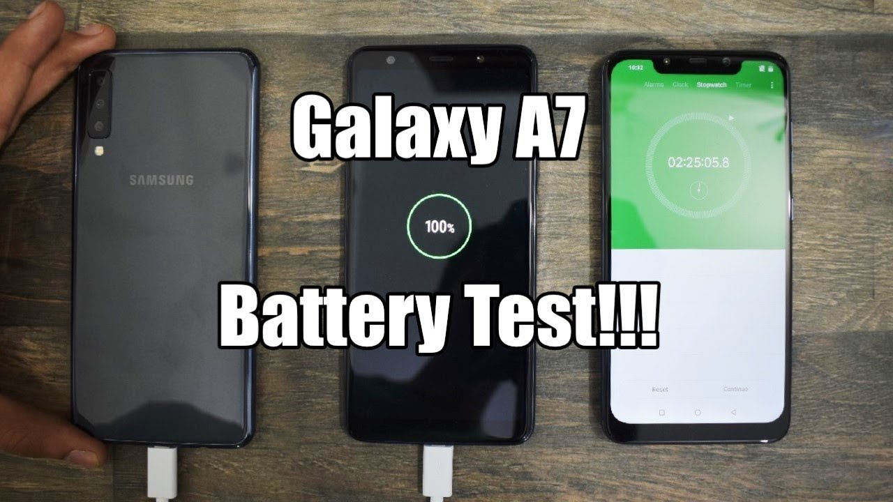 samsung galaxy a7 2018 battery charging test youtube. Black Bedroom Furniture Sets. Home Design Ideas