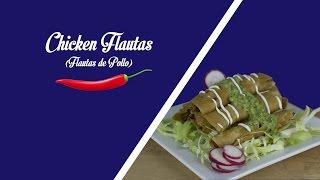 Chicken Flautas : Flautas De Pollo