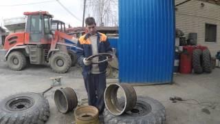 NEO S-200 переобуть в резину ГАЗ-66(погрузчик NEO-S200 переобуть в резине газ -66., 2016-04-28T16:29:07.000Z)