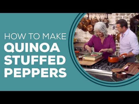 Paula Deen's Quinoa Stuffed Poblano Peppers Blast from the Past