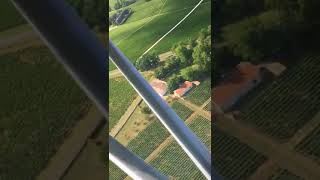 Vue aérienne du domaine viticole du Château Montaiguillon