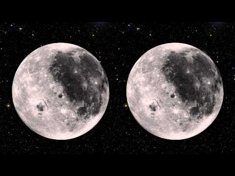 Stereoscopic 3D Rotating Moon (Hans Zimmer version)