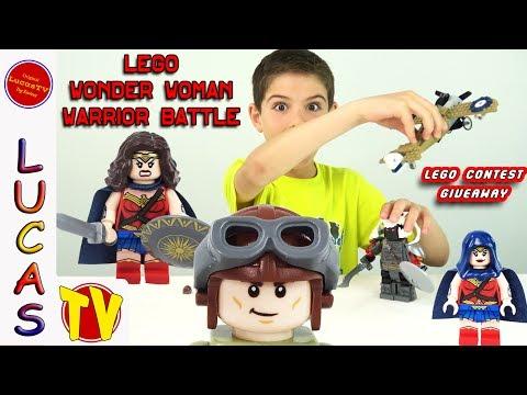 Lego Wonder Woman Warrior Battle Set 76075 and Lego Minifigure Giveaway Contest
