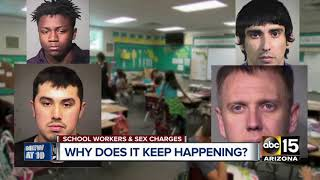 Why are so many school employees getting arrested for inappropriate behavior with children?