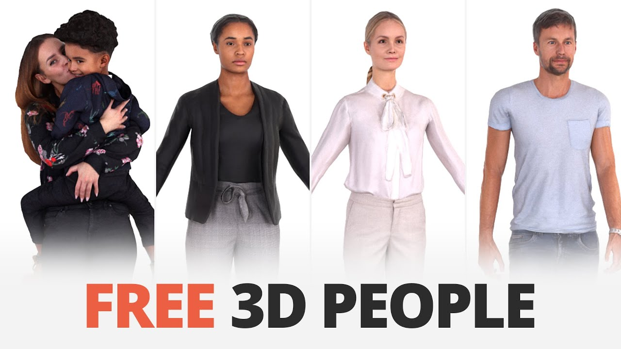 3d character models free download for 3ds max