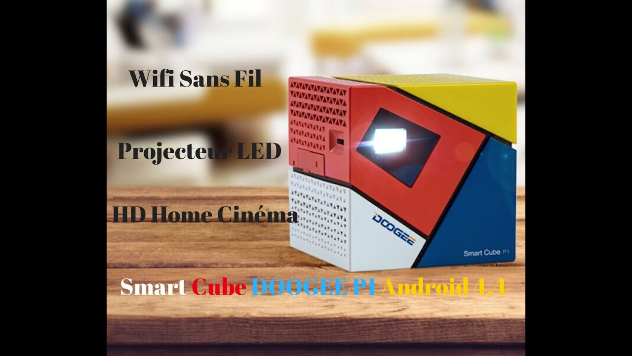 choisir un videoprojecteur smart cube doogee p1 petit mignon et intelligent youtube. Black Bedroom Furniture Sets. Home Design Ideas