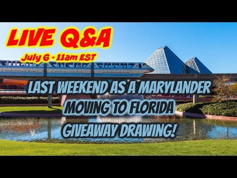 LIVE Q&A - Last weekend as a Marylander 🚚 Moving to Florida ☀️ Giveaway Winners