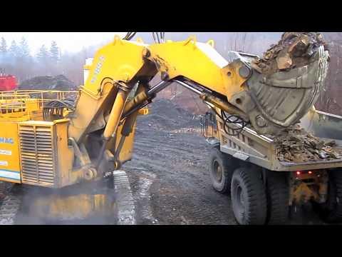 Demag H185S Loading Caterpillar 785B's