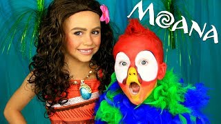 Moana and Hei Hei Makeup and Costume Tutorial