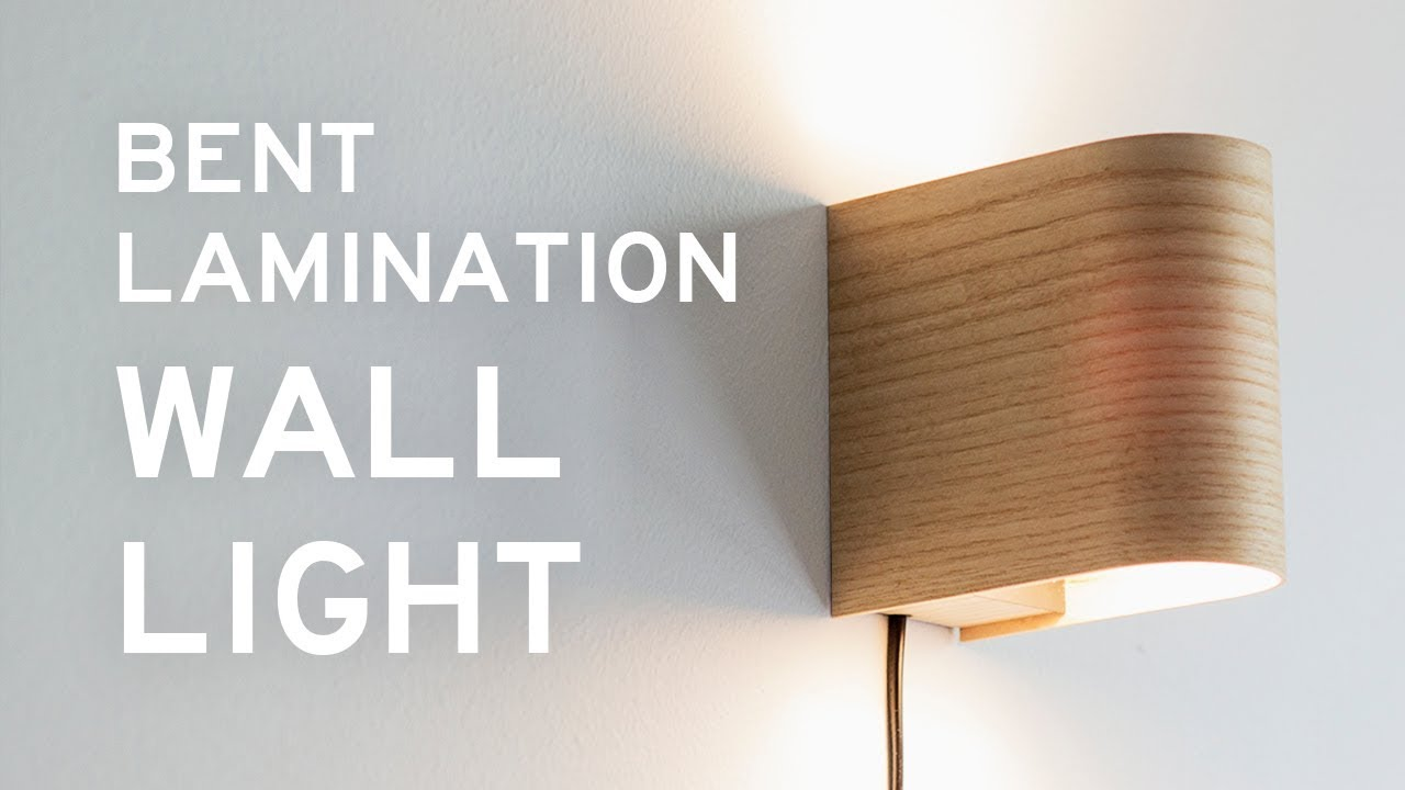 Making a bent lamination wall light youtube making a bent lamination wall light aloadofball Gallery