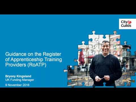 Guidance on the Register of Apprenticeship Training Providers - Webinar