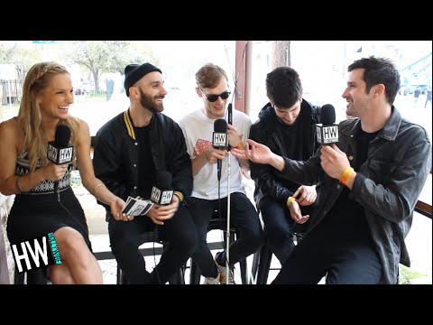 X Ambassadors Reveal Celebrity Crushes & Go To Dance Moves!