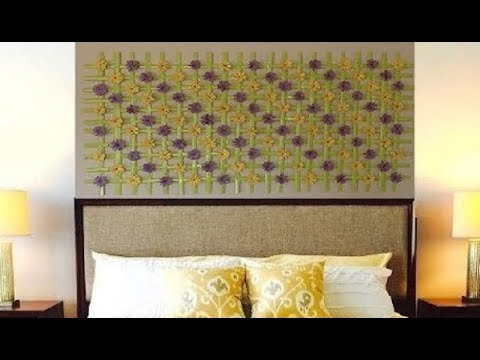Upcycled Woven Wall Hanging Decor - DIY Craft - YouTube