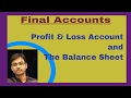 Profit and Loss Account and The Balance Sheet -Introduction