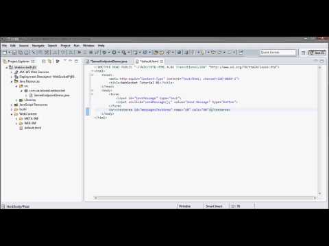 WebSocket (Tutorial 01 - Java Server + JavaScript Client + GlassFish 4.0 + JDK 1.7)