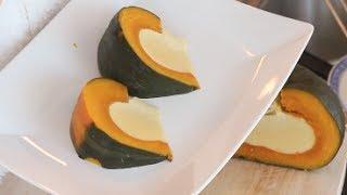 Custard in a Pumpkin Halloween Recipe ฟกทองสงขยา - Hot Thai Kitchen