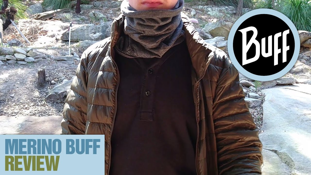 Buff Grey Lightweight Merino Wool Multifunctional Headwear Merino Wool Buff