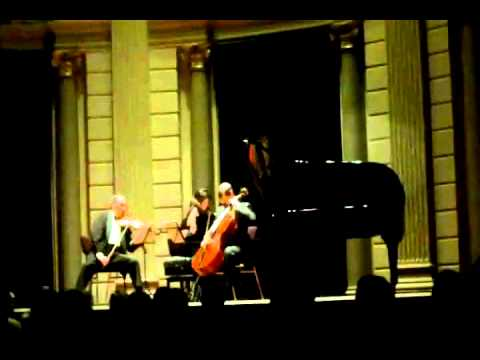 Mikhail & Elizaveta Kopelman, Mikhail Milman. Arensky Piano Trio in d minor, Part 1 of 4