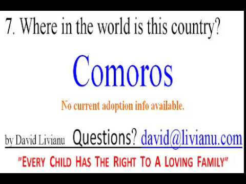 7 Where in the world is Comoros?
