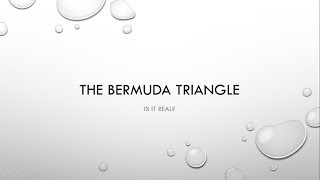 The Bermuda Triangle - The Carolyn Cascio incident