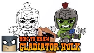 How to Draw Gladiator Hulk | Thor Ragnarok
