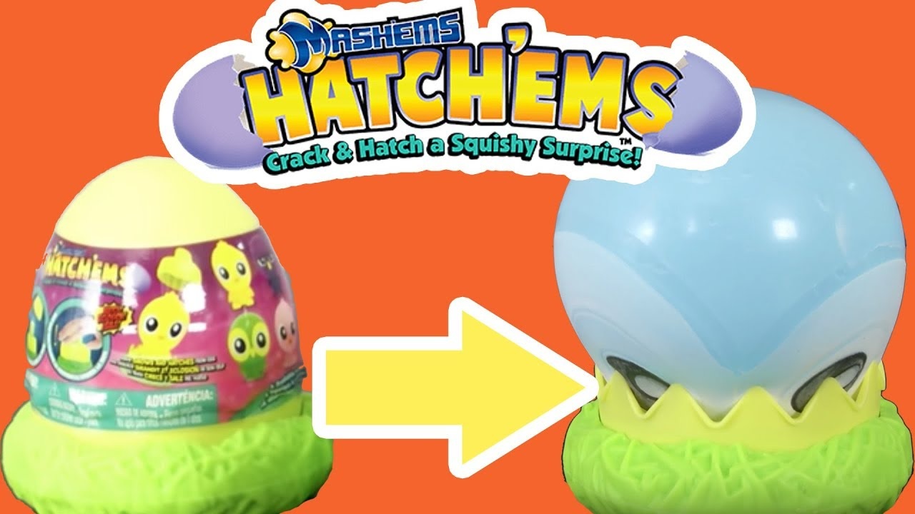 Crack And Hatch A Squishy Surprise Manufacturer Hatchems Mashems Tech4Kids Set of 2 Mashems Hatchems Figures