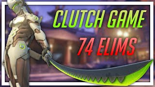 [Overwatch] Clutch Game with 74 Elims (Genji)