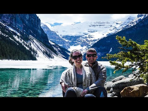 CANADA ROAD TRIP // DAY 3 // Gorgeous Lake Louise, Moraine Lake & Hiking a Glacier!