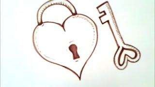 Как нарисовать сердце с ключом(Как нарисовать сердце с ключом., 2015-11-03T18:27:08.000Z)