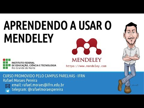 Aprendendo a usar o Mendeley