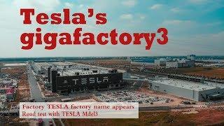 #045 Tesla giga shanghai\10.21.2019\ See the Model3 road test\Factory appears