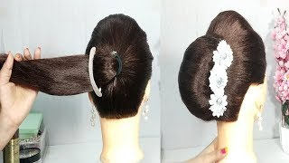 Big French Bun Hairstyle with New Trick || hairstyle 2019 || new hairstyle || hairstyles