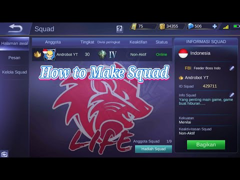 How to Make Squad Free join | Feeder Boss Indo