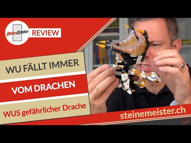 LEGO® 71718 Wus gefährlicher Drache Review: Wu fällt immer wieder vom Drachen.