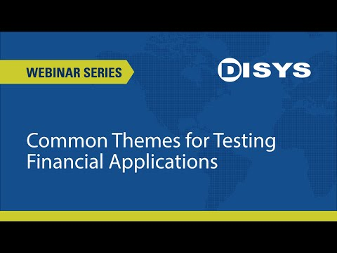 Common Themes for Testing Financial Applications