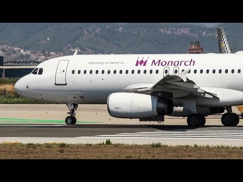 LEASED Monarch A320 LY-BGH Take-off Barcelona Airport