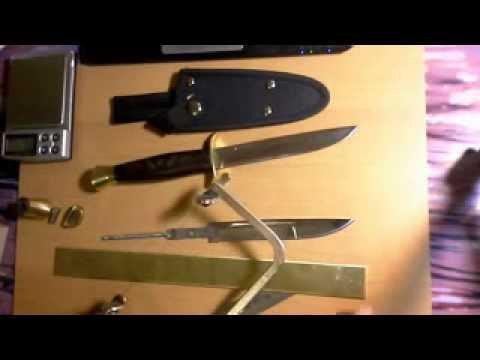 Переделка ножа Диверсант фирмы Витязь. Часть 1.