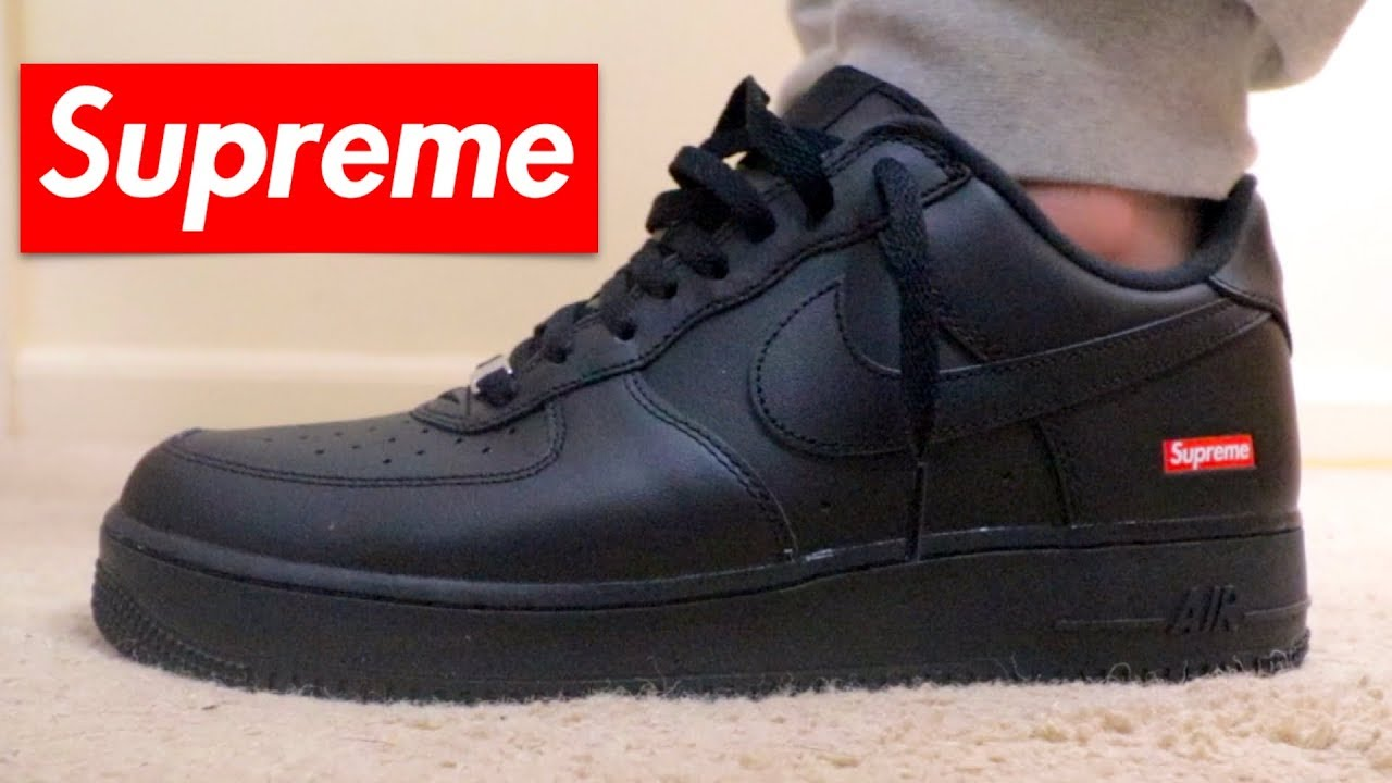 black supreme air force 1