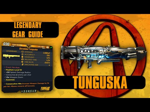 "Borderlands 3 ""Tunguska"" Legendary Gear Guide! 