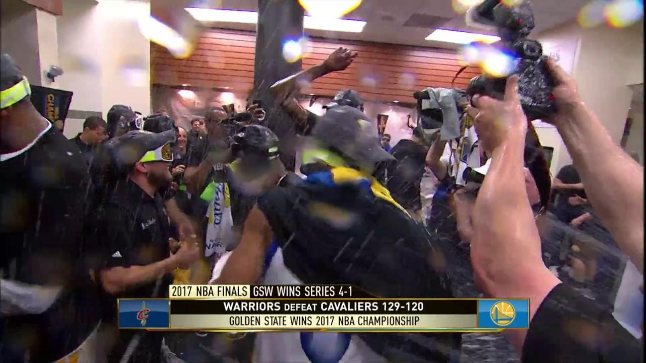 Golden State Warriors Locker Room Celebration! After winning Nba ...