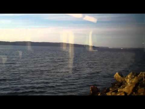 Seattle to Mukilteo on light rail and Sounder trains